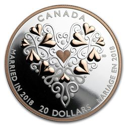 2018 Canada 1 oz Silver $20 Best Wishes on Your Wedding Day