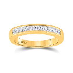14kt Yellow Gold Womens Princess Diamond Wedding Band 1/2 Cttw Size 6