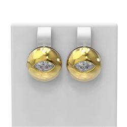 1.04 ctw Marquise Diamond Earrings 18K Yellow Gold