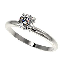 0.78 ctw Certified Quality Diamond Engagment Ring 10k White Gold