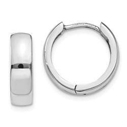 14k White Gold 11 mm Hinged Earrings
