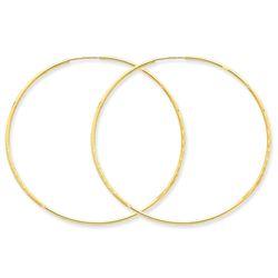 14k Diamond-cut 51 mm Endless Hoop Earring