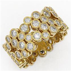 4 ctw Diamond Designer Ring 18K Yellow Gold