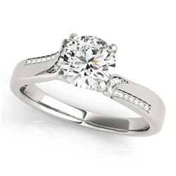 0.93 ctw Certified VS/SI Diamond Ring 18k White Gold