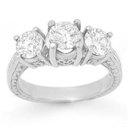 2.0 ctw Certified VS/SI Diamond 3 Stone Ring 18k White Gold