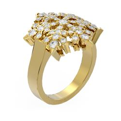 1.28 ctw Diamond Ring 18K Yellow Gold