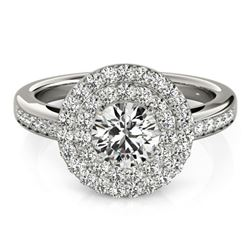 1.6 ctw Certified VS/SI Diamond Halo Ring 18k White Gold