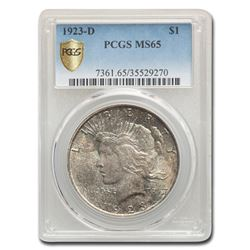 1923-D Peace Dollar MS-65 PCGS