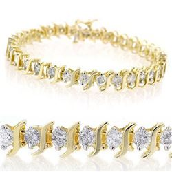2.0 ctw Certified VS/SI Diamond Bracelet 10k Yellow Gold