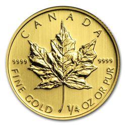 Canada 1/4 oz Gold Maple Leaf (Random Year)