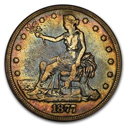 1877 Trade Dollar VF Details (Cleaned)