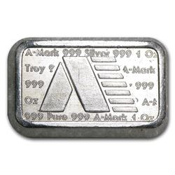 1 oz Silver Bar - A-Mark Brick (Type-2)