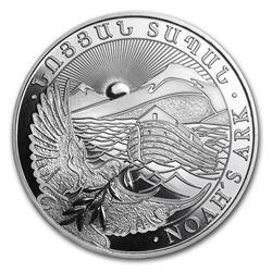 2012 Armenia 1 oz Silver 500 Drams Noah€™s Ark BU