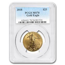 2018 1/2 oz Gold American Eagle MS-70 PCGS