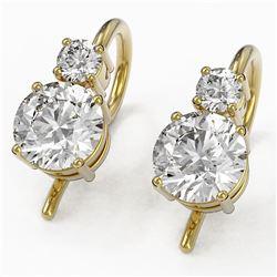 1.25 ctw Diamond Designer Earrings 18K Yellow Gold