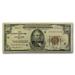 1929 (D-Cleveland) $50 Brown Seal FRBN VF