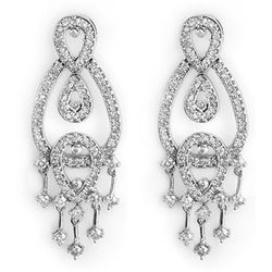 2.0 ctw Certified VS/SI Diamond Earrings 14k White Gold