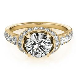 1.75 ctw Certified VS/SI Diamond Halo Ring 18k Yellow Gold