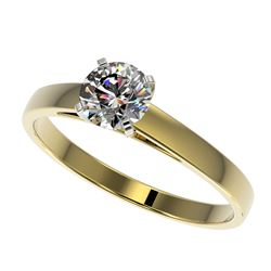 0.78 ctw Certified Quality Diamond Engagment Ring 10k Yellow Gold