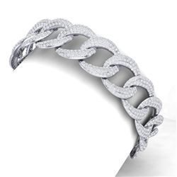 10 ctw Certified VS/SI Diamond Bracelet 18K White Gold