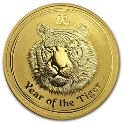 2010 Australia 1 oz Gold Lunar Tiger BU (Series II)