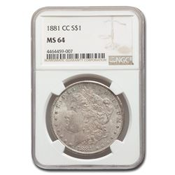 1881-CC Morgan Dollar MS-64 NGC