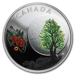 2018 Canada 1/4 oz Silver $3 Thirteen Teachings Strawberry Moon