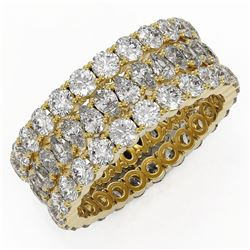 7.66 ctw Pear Cut Diamond Eternity Ring 18K Yellow Gold