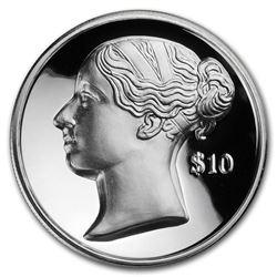 2017 BVI 2 oz UHR Silver $10 Anniv of Queen Victoria's Accession