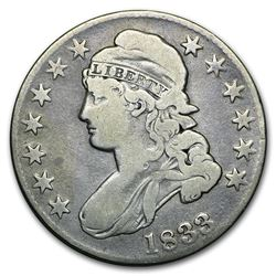 1833 Capped Bust Half Dollar VG
