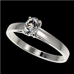 0.50 ctw Certified VS/SI Quality Oval Diamond Engagment Ring 10k White Gold