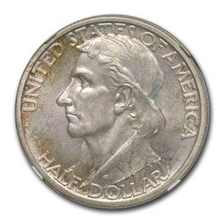 1937-D Boone Bicentennial Half Dollar Commem MS-66 NGC