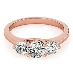 2 ctw Certified VS/SI Diamond 3 Stone Ring 18k Rose Gold