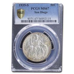 1935-S San Diego Half Dollar MS-67 PCGS