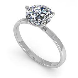 1.50 ctw Certified VS/SI Diamond Engagment Ring Martini 18k White Gold