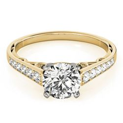 0.85 ctw Certified VS/SI Diamond Ring 18k Yellow Gold