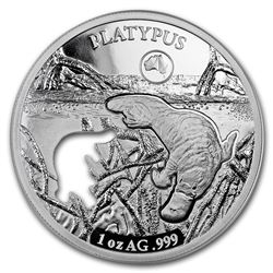 2019 Solomon Islands 1 oz Silver Shapes of Australia (Platypus)