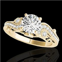 1.25 ctw Certified Diamond Solitaire Antique Ring 10k Yellow Gold