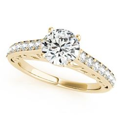 1.65 ctw Certified VS/SI Diamond Solitaire Ring 14k Yellow Gold