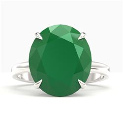 9 ctw Emerald Designer Engagment Ring 18k White Gold
