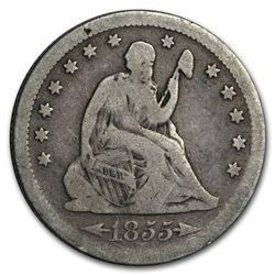 1855-S Liberty Seated Quarter VG