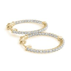2.75 ctw Diamond VS/SI 37 MM Hoop Earrings 14k Yellow Gold