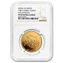 1986 South Korea Gold 25,000 Won PF-69 NGC