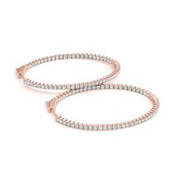2.75 ctw Diamond VS/SI 28 MM Hoop Earrings 14k Rose Gold