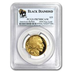 2008-W 1/2 oz Proof Gold Buffalo PR-70 PCGS (Black Diamond)