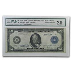 1914 (C-Philadelphia) $50 FRN VF-20 PMG