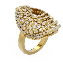 3 ctw Diamond Ring 18K Yellow Gold