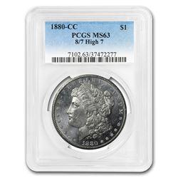 1880-CC Morgan Dollar 8/High 7 MS-63 PCGS