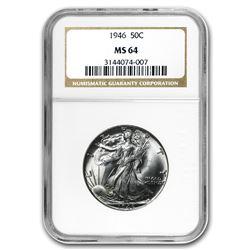 1946 Walking Liberty Half Dollar MS-64 NGC