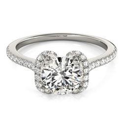 1.33 ctw Certified VS/SI Diamond Halo Ring 18k White Gold